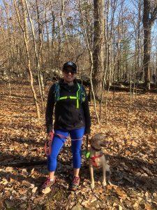 Wendie and Asha hiking