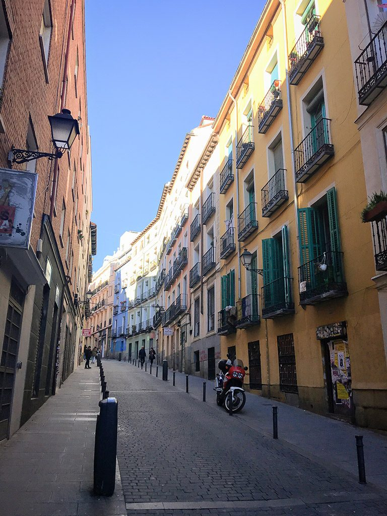 Colorful streets of Madrid