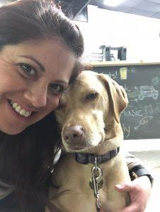 Asha enjoys Sunday dog-friendly days at 7 Locks Brewing in Rockville, MD.