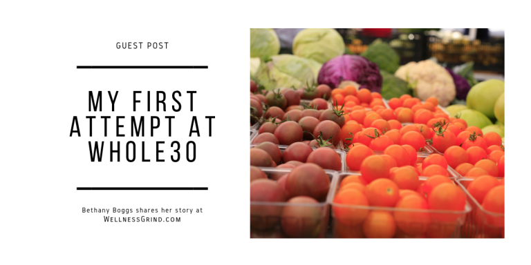 Whole 30 guest post by Bethany Boggs
