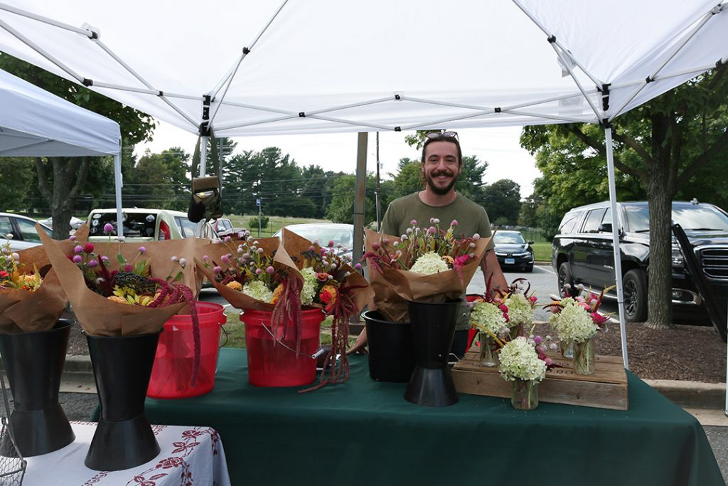 Flowers at Dogfish Head Alehouse Farmers Market