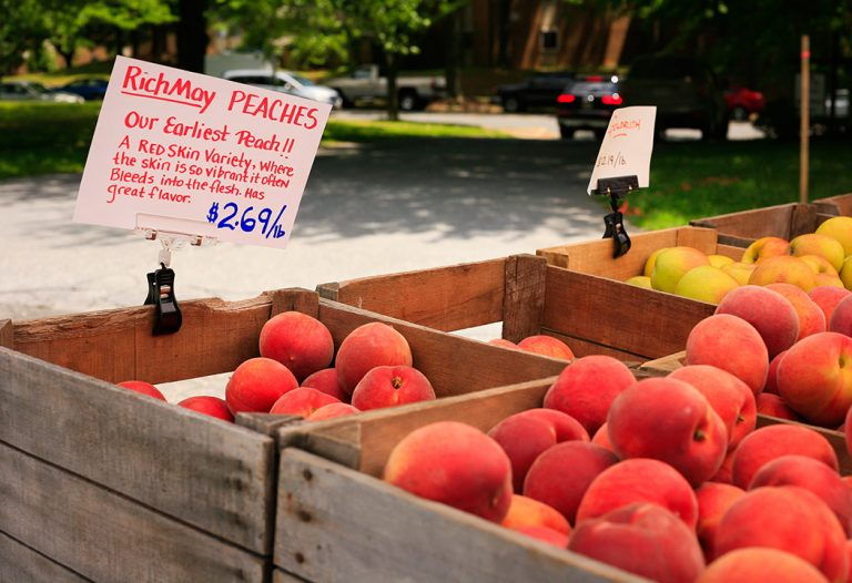 Peaches at Montgomery Village Farmers Market