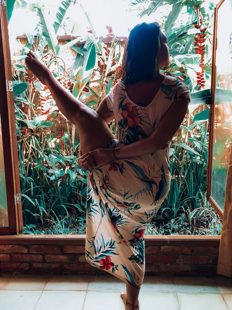 Karen doing Yoga in Bali