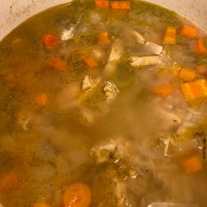 Cook soup on medium heat.