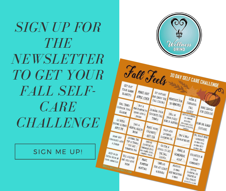 Sign up for the newsletter to get this free fall self care challenge!