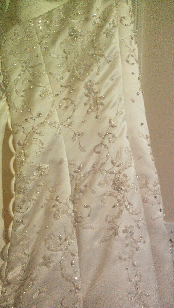 Wedding dress beadwork detail