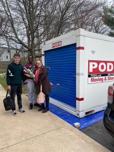 Wendie's Maryland social bubble, Carl, Angie and Jack helped pack the PODS container and got a few free items that didn't make the cut.
