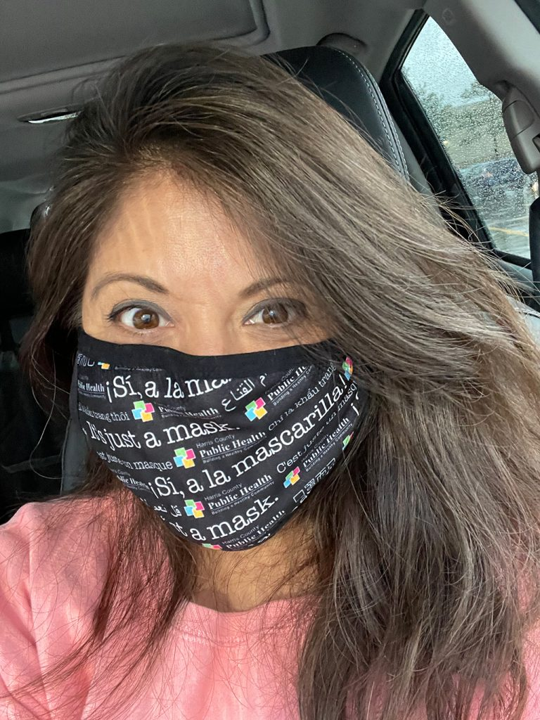 Wendie V in a harris county public health mask