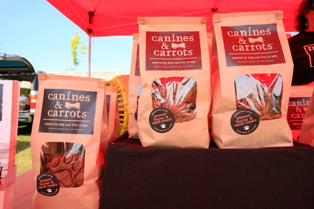 Canines & Carrots treats sold by Durango Dog Company.